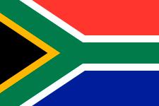 Un niño surafricano presenta la historia de su país retomando cada uno de los colores de su bandera.