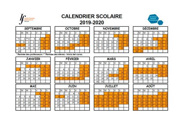 calendario curso 2019-2020